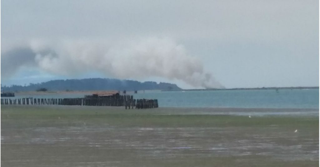 Fire on the South Jetty