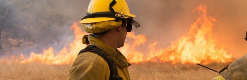 Firefighter on the Ranch Fire