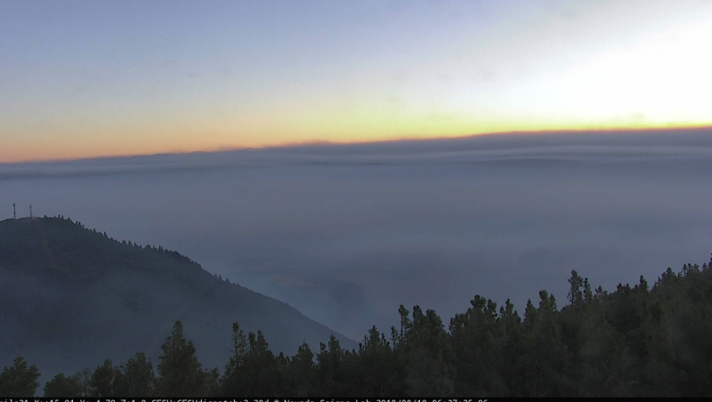 The Mount Konocti Camera shows smoke laying in over Clear Lake. [Image from here]