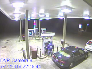 Suspect and vehicle photo