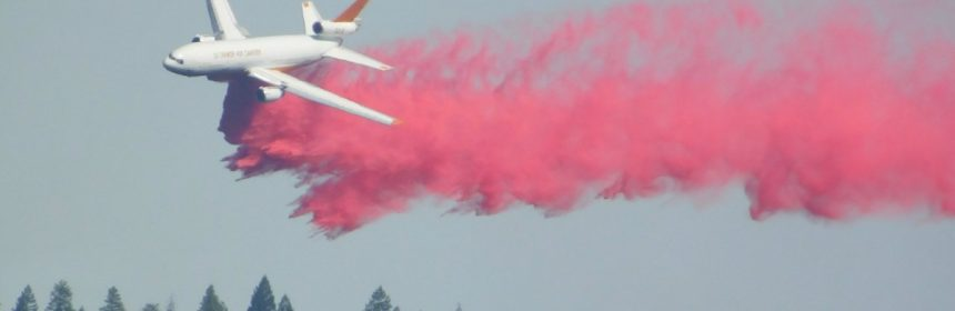 Tanker on the Carr Fire