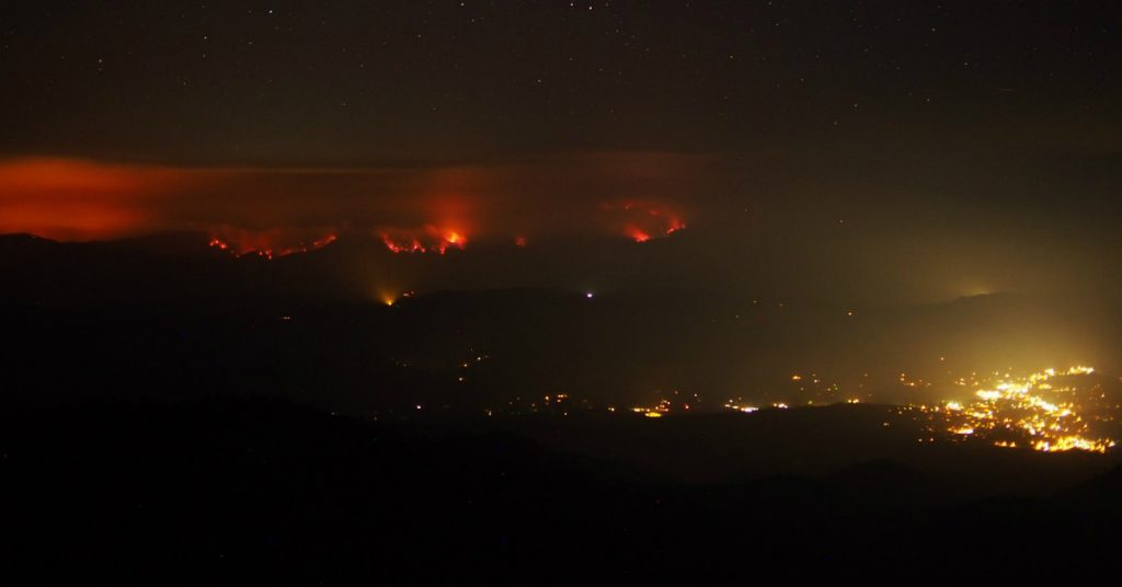 The Carr Fire CLaws towards Weaverville