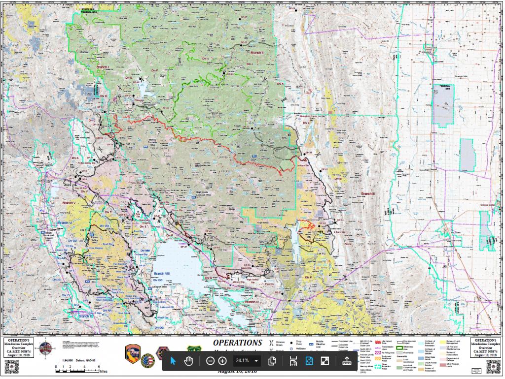 Mendocino Complex Operations Map