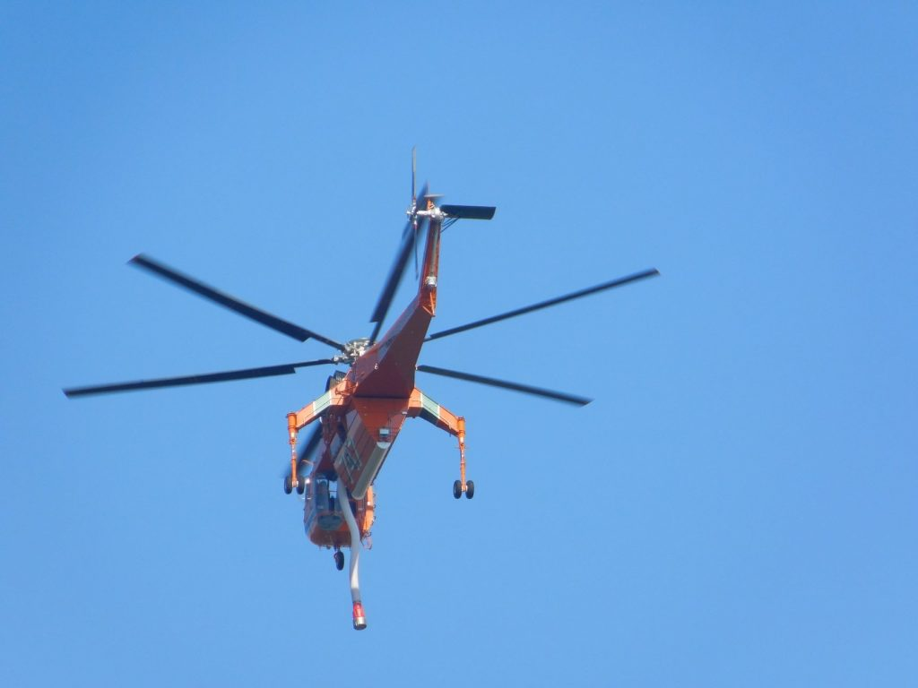 Sikorsky S-64 Skycrane fighting the Carr Fire.