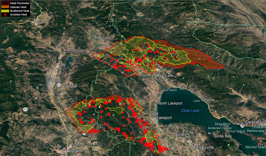 Mendocino Complex KMZ Map