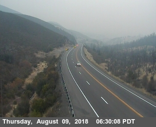 Hwy 20 is smokey but the roadway is clear from 101 to I-5.