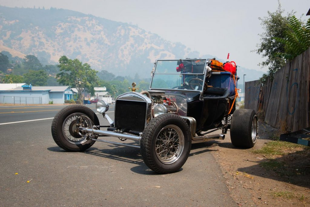 Michael Graves' 1923 model T sits ready to go should the evacuation for Nice and Lucerne become mandatory.