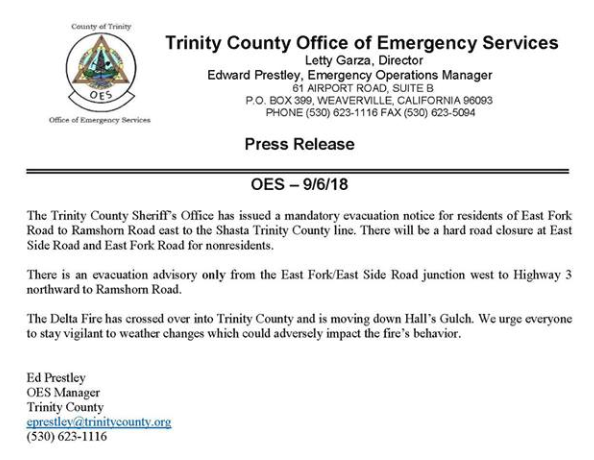 Sheriff's Office Issues New Mandatory Evacuation Notices ...