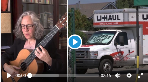 Screen grab from video U-Haul Theft