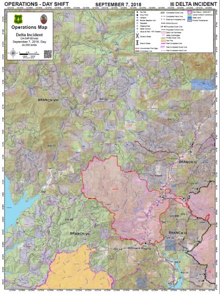 Delta Fire Operations Map Sept 7