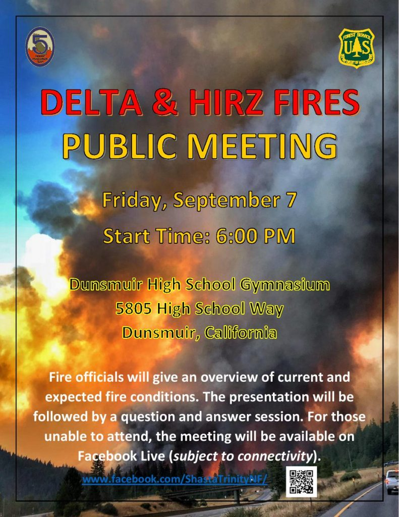 poster advertising Delta Fire meeting