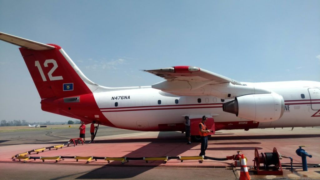 Staff at the Redding Air Tanker Base broke another record today. While pumping retardant in aircraft headed for the Kerlin Fire, they reached the two million gallon mark of pumped fire retardant. Kudos to all the staff there for the tremendous effort put out this year.