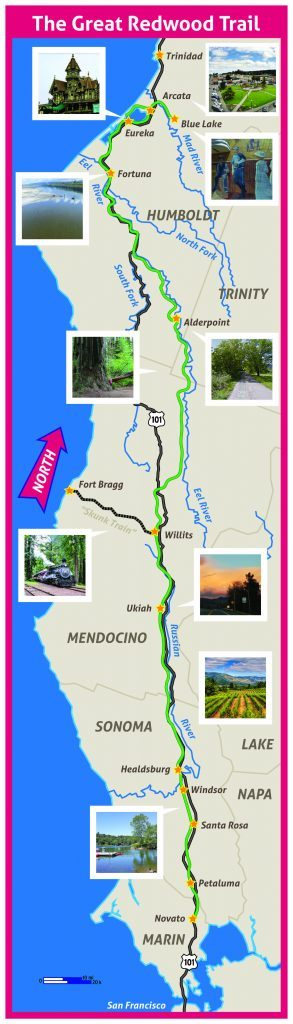 Great redwood trail map