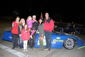Late model feature winner David Henderson