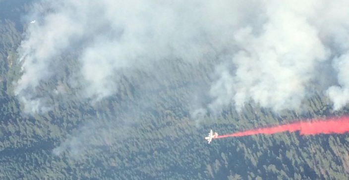 Aerial view of the Kerlin Fire taken on September 6, 2018