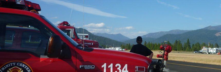 Engine 1134 on crash response for Delta Fire.