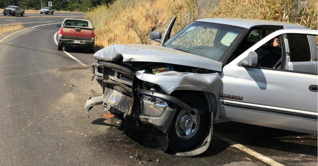 A single vehicle crashed on the Myers Flat onramp.