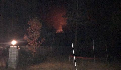 Flames on the hillside above Carlotta.