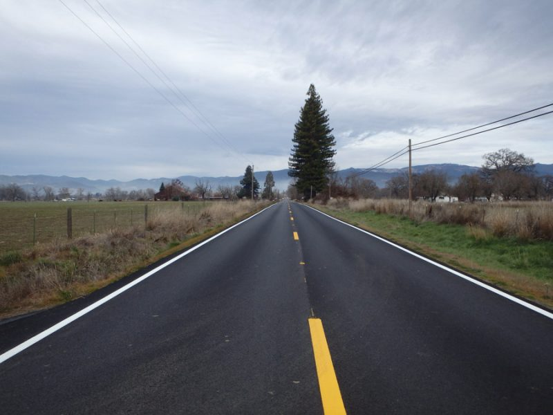 A previous resurfacing project under SB1 near Covelo.