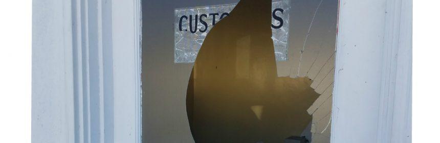 Broken window Rio Dell Press release