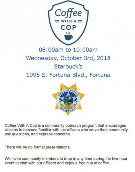 Coffee with a Cop Fortuna