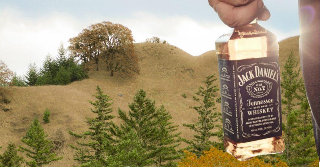 Jack Daniels and landscape by Kym Kemp