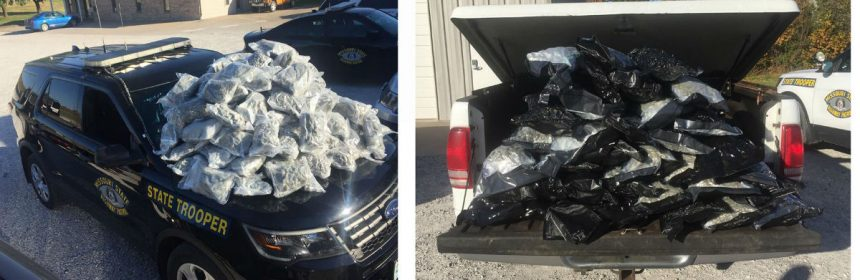 Pounds of marijuana on vehicles