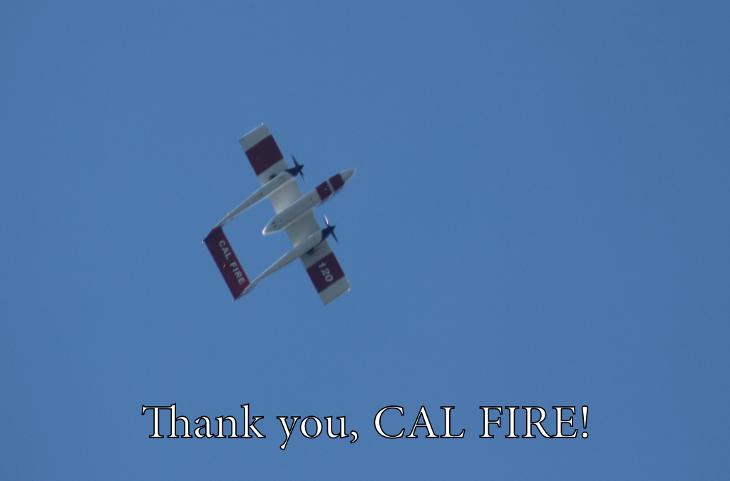 Thank you Cal Fire air attack
