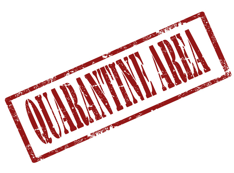 Quarantine area quarantined