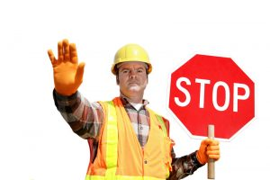 Construction Worker, stop sign, crew, road work