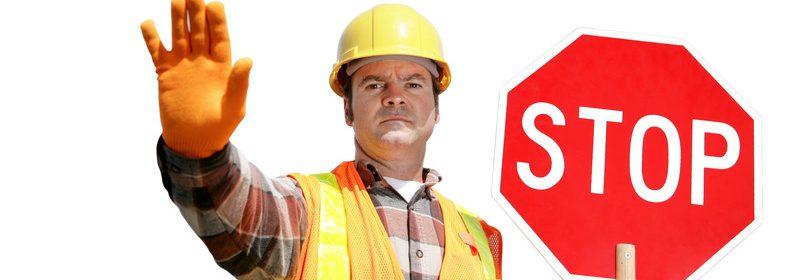 Construction Worker, stop sign, crew, road work