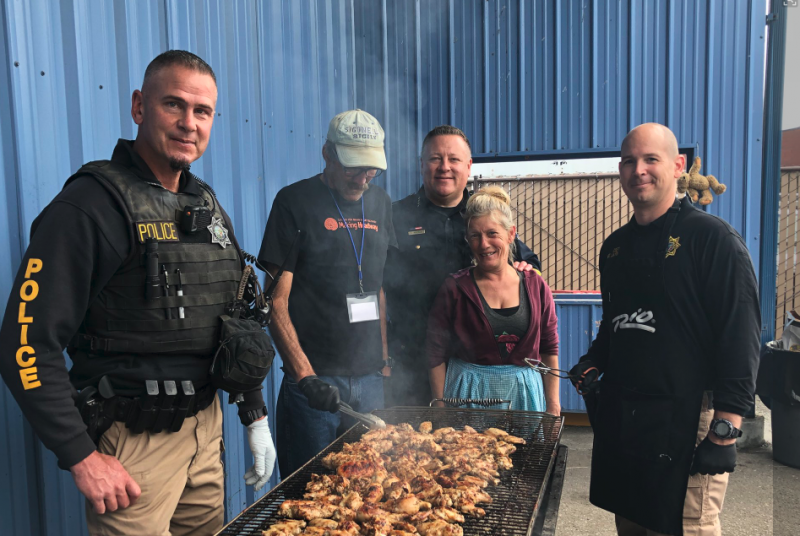 EPD Cooking for the homeless at the St. Vincent De Paul.