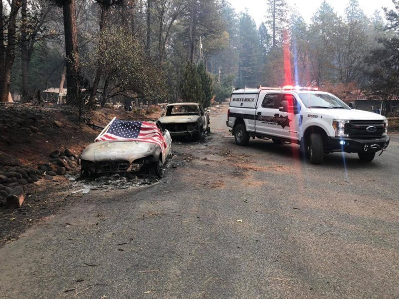 The Butte County Sheriff's Search and Rescue team has been in the areas most destroyed fire the fire.