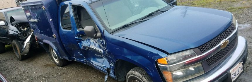 Betty Chinn's Blue Angel catering truck was totaled in an accident this week. [Photo provided by Pacific Builders]