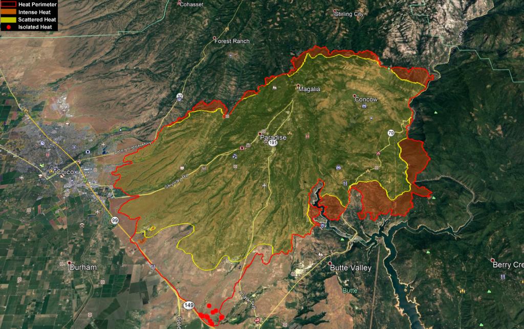 Heat map camp fire