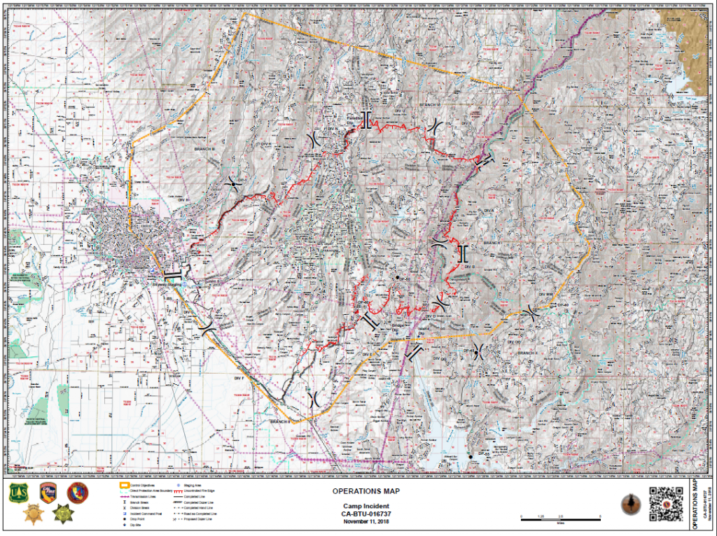 Camp fire operations map 11/11