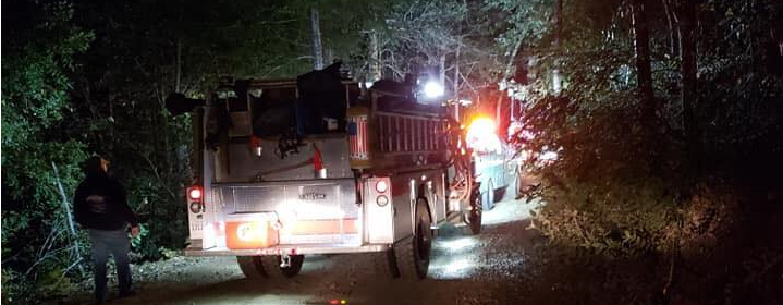 Firetrucks into remote location