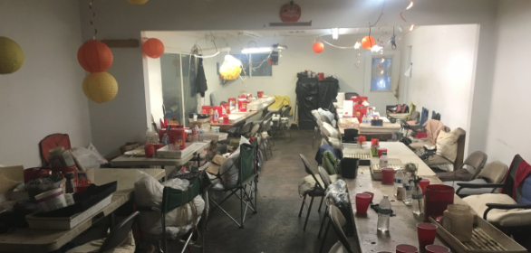 Communal kitchen at cannabis bust hcso
