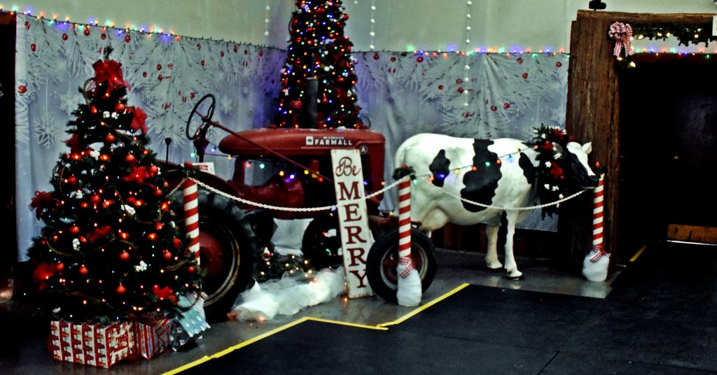 A traditional country look with holiday spirit at the ice rink