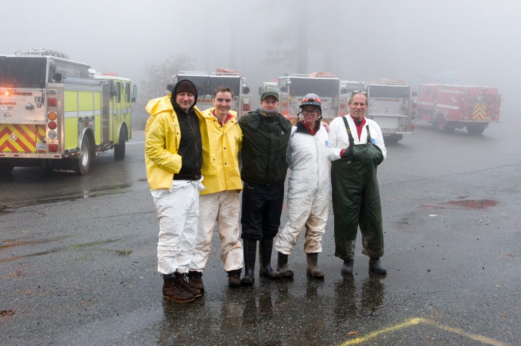 Posse members pose for a shot at the staging area at Scooters Cafe.