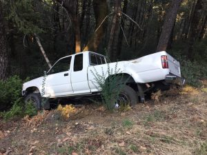 Truck that struck the pole.