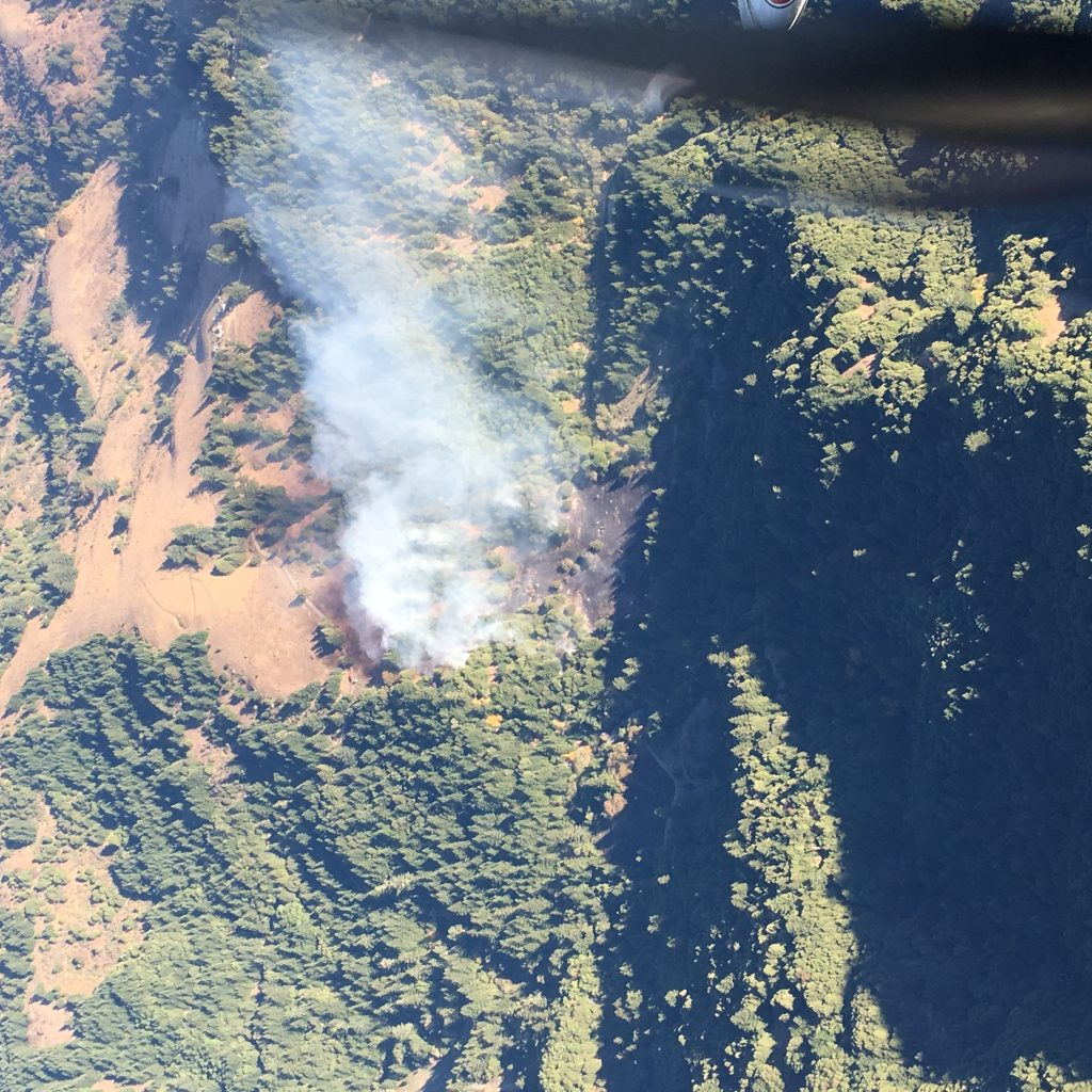 Aerial view of the Mattole Fire.