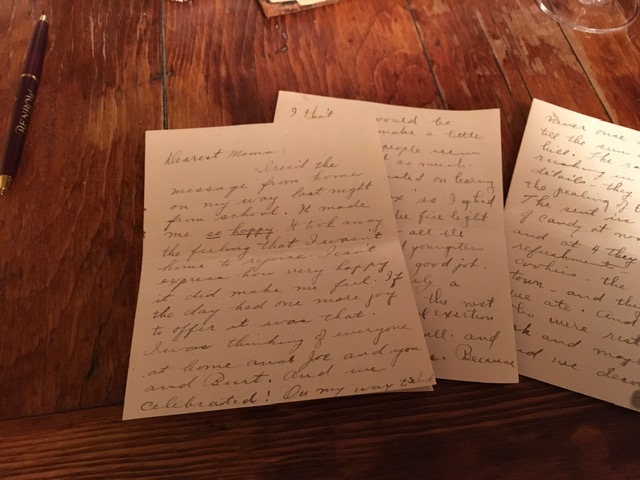 Letter from Clara Benbow to her mother.