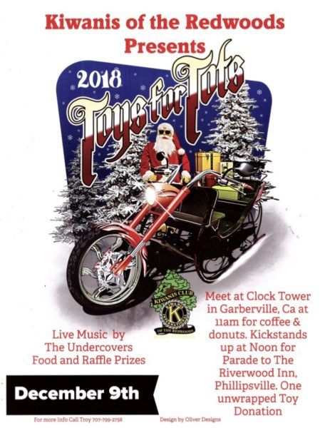 toys for tots poster 2018 Kiwanis of the Redwoods