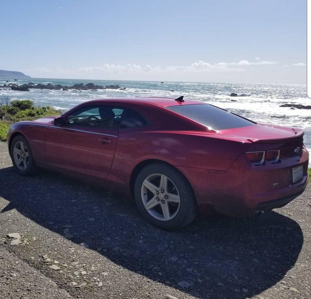 Red 2012 chevy camaro