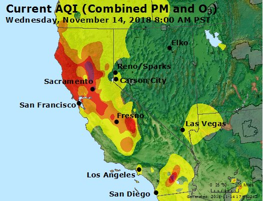 Update 10 28 A M Air Quality At Unhealthy Levels For Much Of The