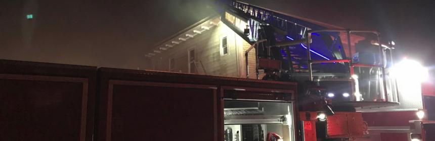ladder on fire truck
