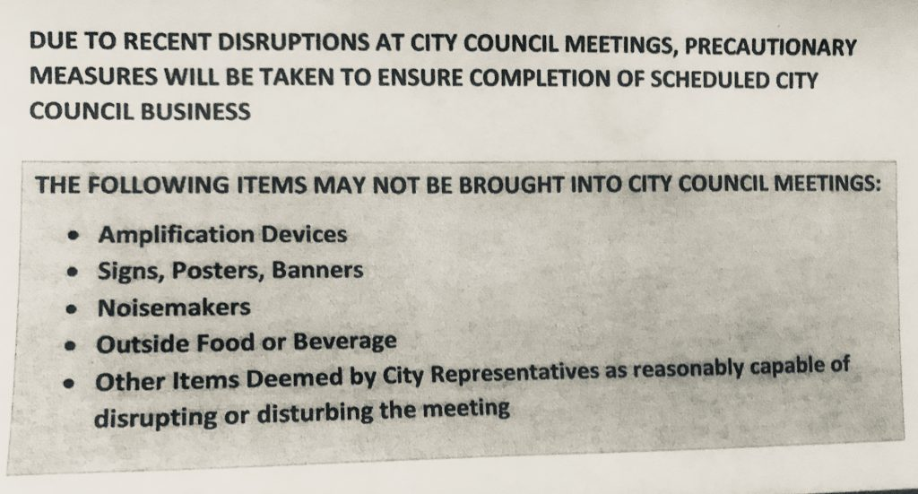 Notice previously posted in front of the Arcata City Hall.