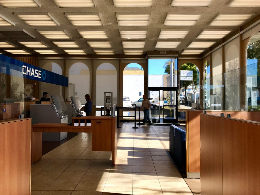 Inside Chase Bank on 4th in Eureka