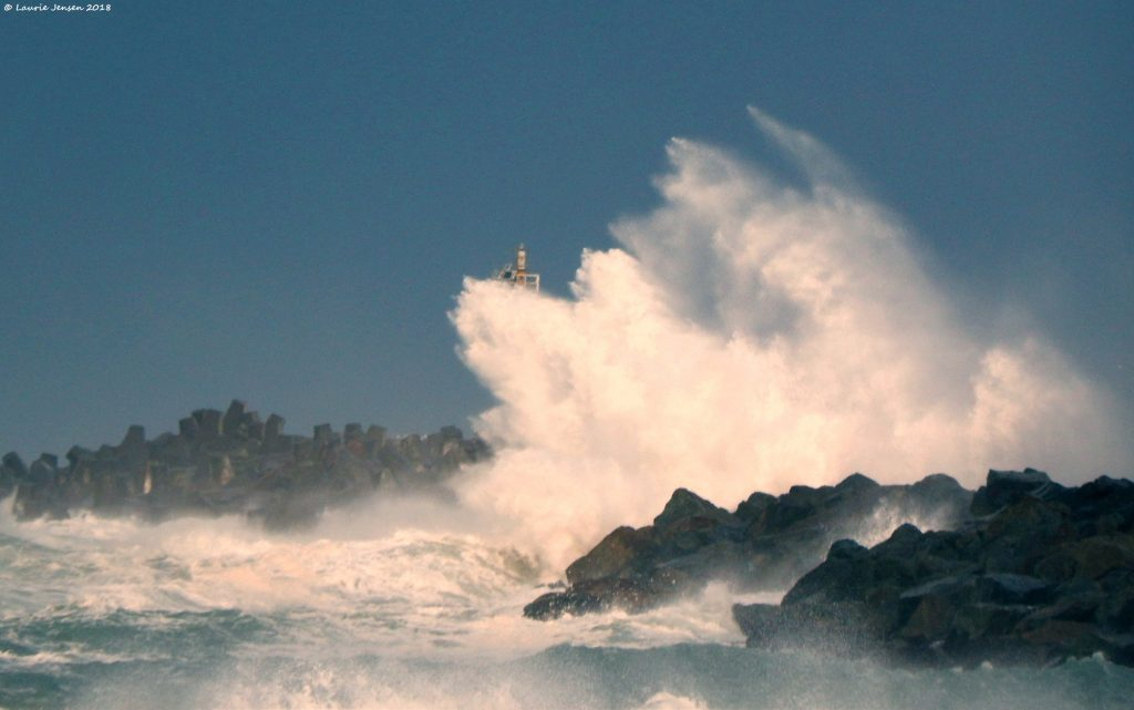 Big wave on South Jetty today